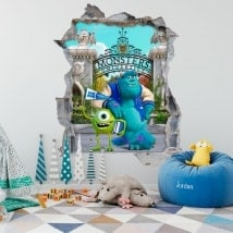 Stickers pour enfants monsters university 3D