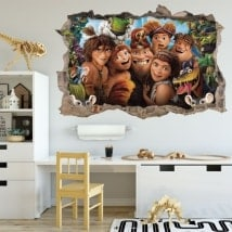 Stickers muraux The Croods 3D