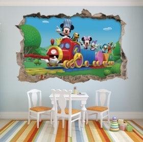 Vinyle pour enfants Mickey Mouse et ses amis en 3D