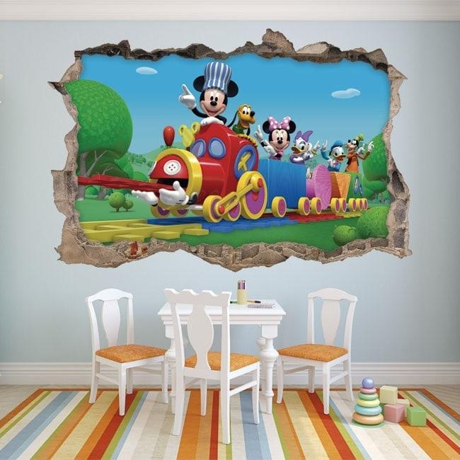 Vinyle pour enfants mickey mouse et ses amis en 3d for Vinilos 3d infantiles