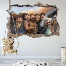 Vinyle pour enfants 3D Les Croods