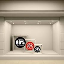 Vinyle décoratif cercles ventes de 50 à 80