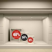 Vinyle décoratif cercles ventes de 10 à 40