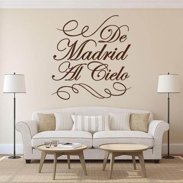 Vinyle décoratif de Madrid au paradis