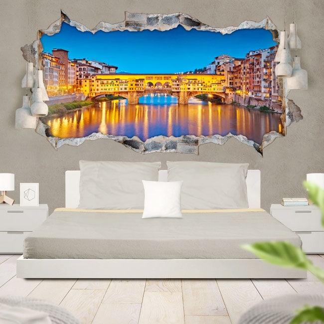 Vinyle 3D panoramique Florence Italie