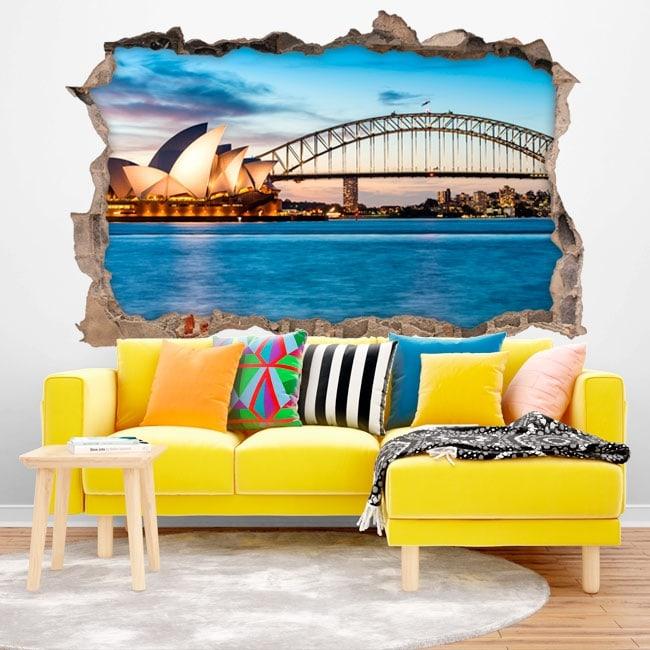 Vinyle décoratif Sydney Australie 3D