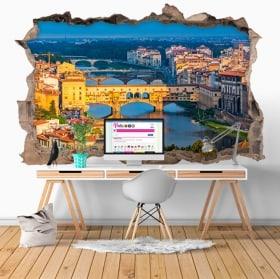 Vinyle décoratif ponte vecchio Florence Italie 3D