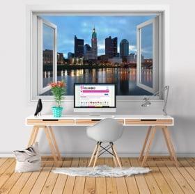 Vinyle ville de rivière Scioto Columbus Ohio 3D