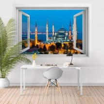 Vinyle mosquée bleue ou Sultan Ahmed Istanbul 3D