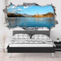 Vinyle décoratif lac de Bled Slovénie 3D