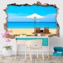 Vinyle décoratif jours de plage 3D