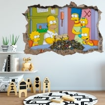 Autocollants Les Simpsons 3D