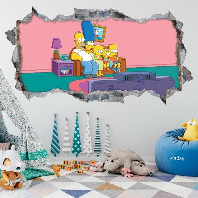 Vinyle décoratif Les Simpsons 3D