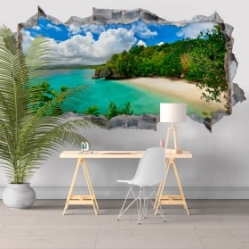 Vinyle de murs Big Lagoon Philippines Iles 3D