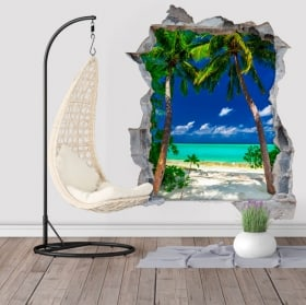 Vinyles palmiers Big Lagoon Philippines Iles 3D