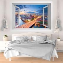 Vinyle décoratif coucher de soleil Berlin Allemagne 3D