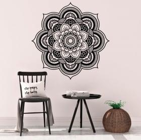 Vinyle mandalas lotus de yoga