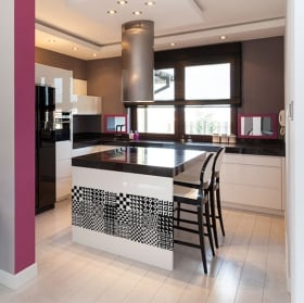 Vinyle carreaux pour cuisines et salles de bains