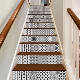 Vinyle décoratif carreaux pour escaliers