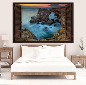 Vinyle décoratif coucher de soleil Tyulenovo Bulgarie 3D