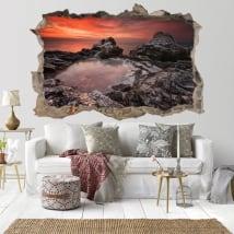 Vinyle décoratif coucher de soleil Rocky Beach Bulgarie 3D
