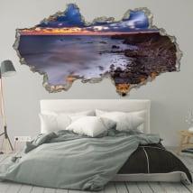 Vinyle décoratif aube côte de la Bulgarie 3D