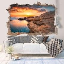 Vinyle lever du soleil sur la mer noire Bulgarie 3D