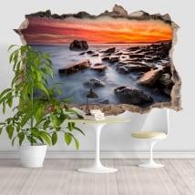 Vinyle décoratif Rocky Beach 3D