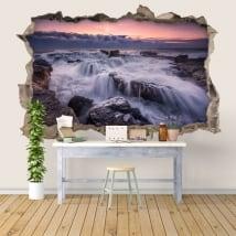 Vinyle décoratif lever du soleil dans la mer 3D