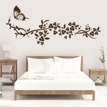 Vinyle décoratif papillon et fleurs