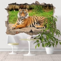 Vinyle décoratif tigre du Bengale 3D