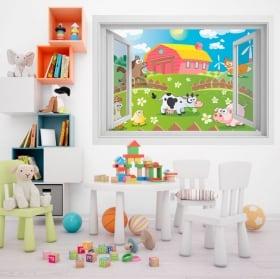 Vinyle pour enfants animaux à la ferme 3D