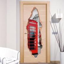 Vinyle décoratif portes Londres 3D