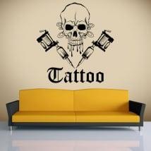 Vinyle décoratif tatouage de crâne