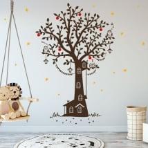 Vinyle décoratif enfantin maison dans les arbres