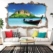 Vinyle décoratif plages de la Thaïlande 3D