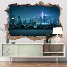 Vinyle décoratif ville Kuala Lumpur Malaisie 3D