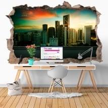 Vinyle 3D ville Kuala Lumpur Malaisie