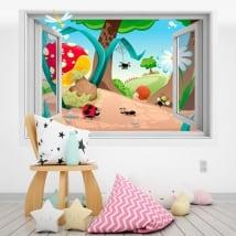 Vinyle pour enfants forêt 3D
