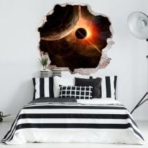 Vinyle décoratif planètes et cosmos 3D