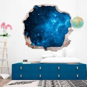 Stickers muraux étoiles dans le cosmos 3D