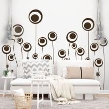 Stickers muraux fleurs de cercles