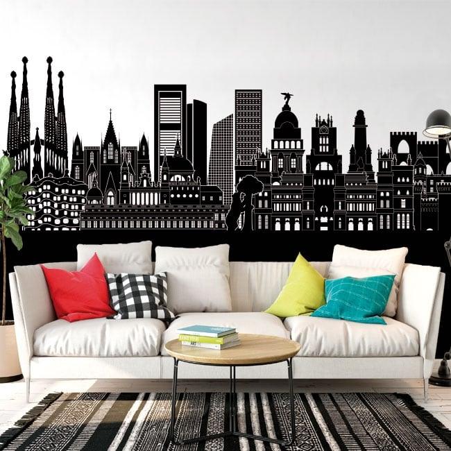 Vinyle décoratif Skyline Espagne