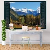 Vinyle décoratif parc national du Canada Banff 3D