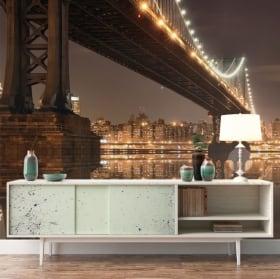 Papiers peints New York pont Manhattan