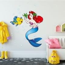 Autocollants en vinyle pour enfants la petite sirène