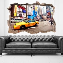 Autocollants ville New York 3D