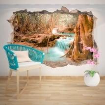 Vinyle décoratif cascade nature 3D