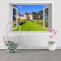 Stickers muraux château de Chenonceau France 3D