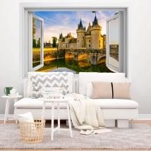 Vinyle adhésif France château de Chenonceau 3D